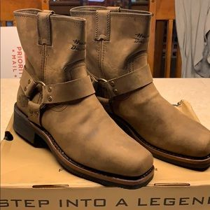 Harley Davidson Leather Laredo Boots Sz 7 New